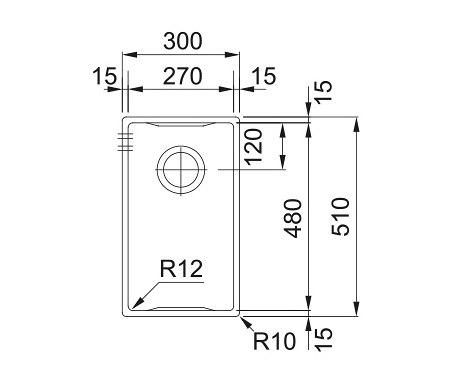 Box Center Sink BWX 210/ 110-27 Stainless Steel by Franke Kitchen Systems | Kitchen organization