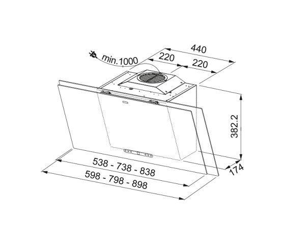 Maris Plus 2.0 Hood FMA 2.0 PLUS 907 BK Glass Black by Franke Kitchen Systems | Kitchen hoods