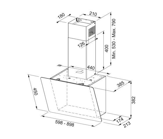 Smart Vertical 2.0 Hood FPJ 915 V BK/ DG Glass Black by Franke Kitchen Systems   Kitchen hoods