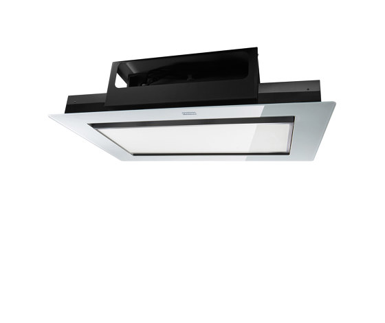Mythos Ceiling Cabinet Hood FMYCF 906 Glass White by Franke Kitchen Systems | Kitchen hoods
