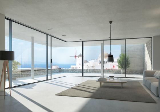 Panorama Design Sliding Systems | ASE 67 PD by SCHÜCO | Window types