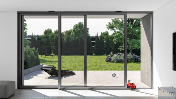 Sliding and lift-and-slide systems | ASE 60 TT by SCHÜCO | Window types