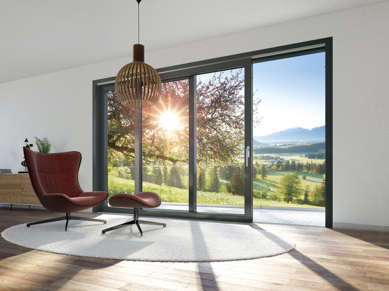 Sliding and lift-and-slide systems | LivIngSlide by SCHÜCO | Window types