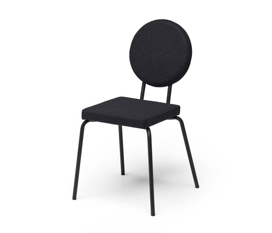 Option Chair Black Square Seat Round Back by PUIK | Chairs