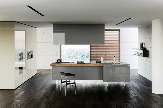 36e8 Glass Kitchen by LAGO | Fitted kitchens