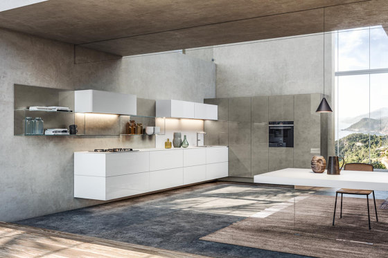 36e8 Glass Kitchen by LAGO   Fitted kitchens