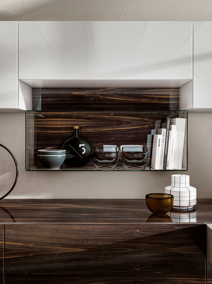 36e8 Wood XGlass Kitchen by LAGO | Fitted kitchens