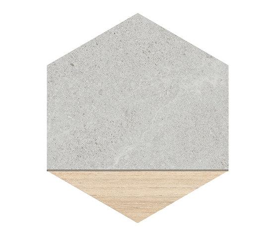 Seine | Hexágono Ligard Gris von VIVES Cerámica | Keramik Fliesen