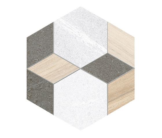 Seine | Hexágono Mayeix Multicolo de VIVES Cerámica | Carrelage céramique