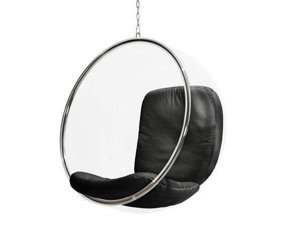 Bubble, black leather cushions von Eero Aarnio Originals | Schaukeln
