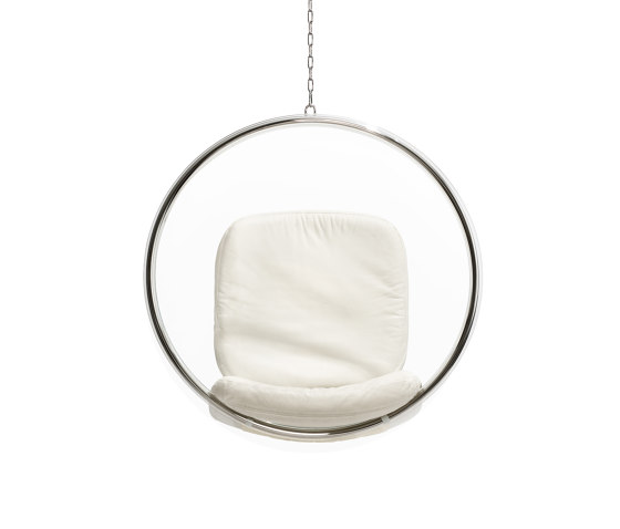 Bubble, white leather cushions von Eero Aarnio Originals | Schaukeln