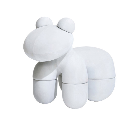 Pony, upholstery: snow white by Eero Aarnio Originals   Poufs