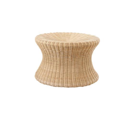 Mushroom stool large, Rattan natural von Eero Aarnio Originals   Beistelltische