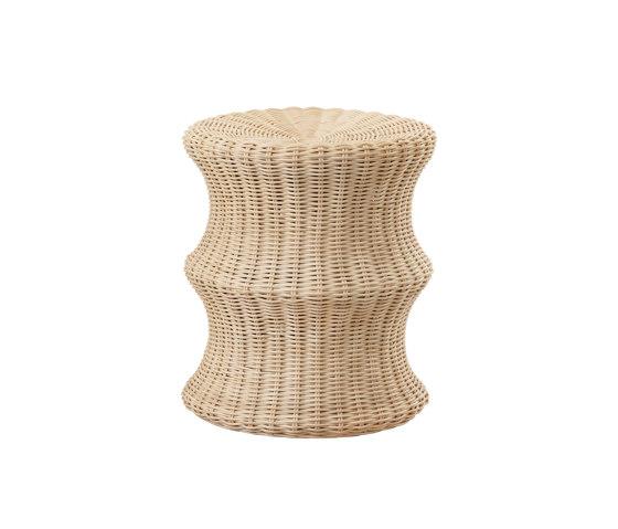 Mushroom stool double, Rattan natural von Eero Aarnio Originals | Beistelltische
