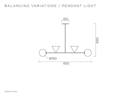Balancing variations 368OL-P04 by Atelier Areti | Suspended lights