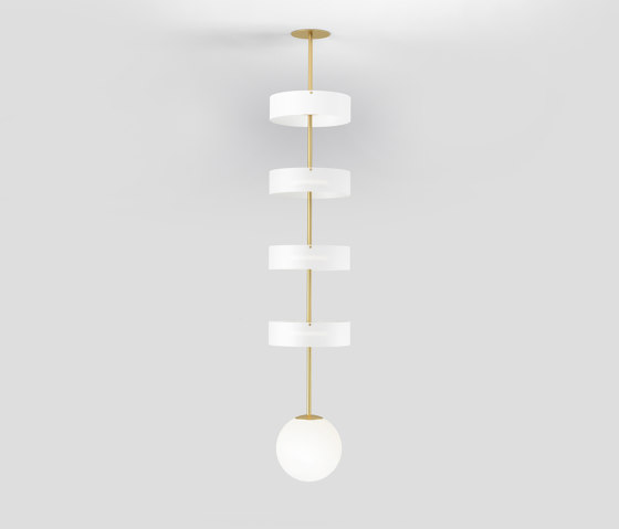 Circle ang globe 327OL-P01 by Atelier Areti   Suspended lights