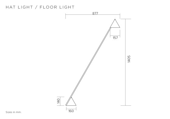Hat light 444OL-F01 by Atelier Areti | Floor lights