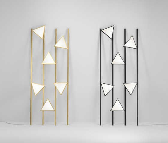 Lines and triangles 358OL-F01 by Atelier Areti   Floor lights