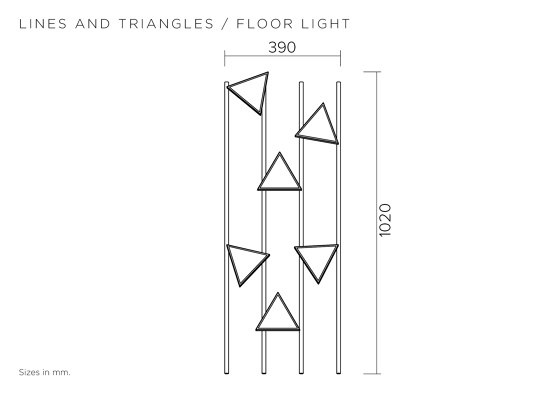 Lines and triangles 358OL-F01 by Atelier Areti | Floor lights