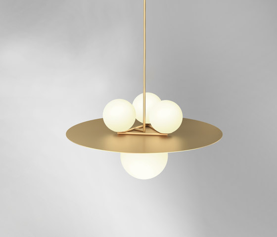 Plates and spheres 403OL-P02 by Atelier Areti   Suspended lights