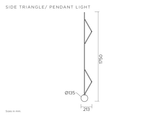 Side triangle 426OL-P03 by Atelier Areti | Suspended lights