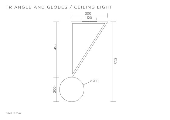 Triangle and globe 329OL-C01 by Atelier Areti | Ceiling lights