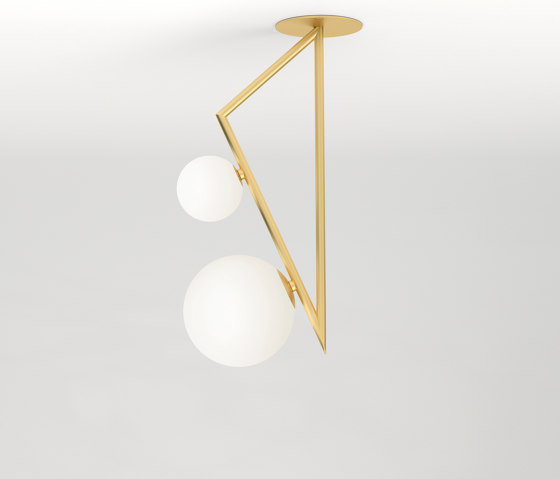 Triangle and globe 329OL-C04 by Atelier Areti | Ceiling lights