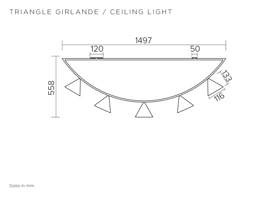 Triangle girlande 385OL-C01 by Atelier Areti | Ceiling lights