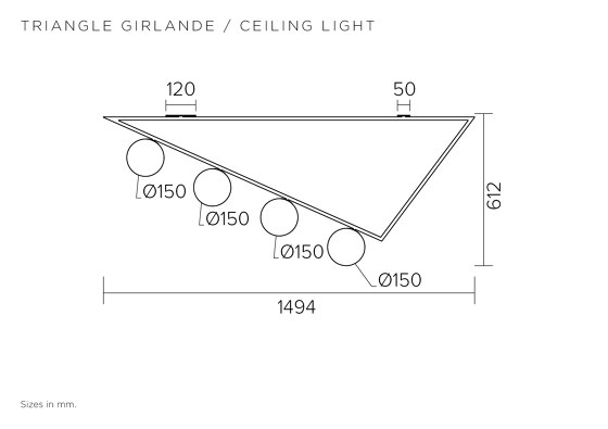 Triangle girlande 385OL-C04 by Atelier Areti | Ceiling lights