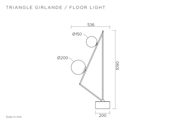 Triangle girlande 385OL-F05 by Atelier Areti | Floor lights