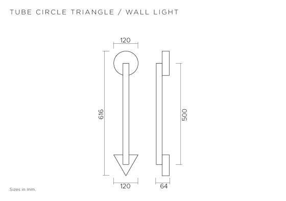 Tube circle triangle 447OL-W01 by Atelier Areti | Wall lights