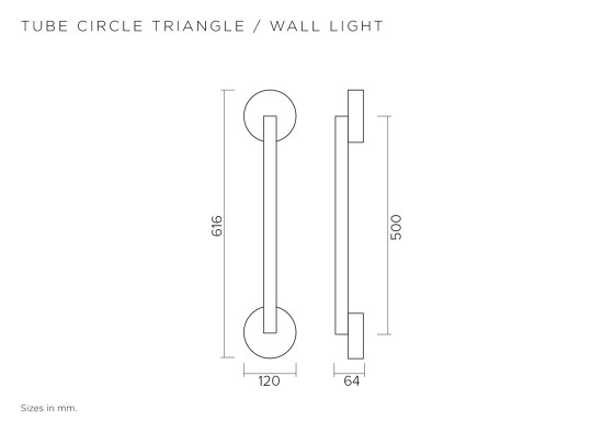 Tube circle triangle 447OL-W03 by Atelier Areti | Wall lights