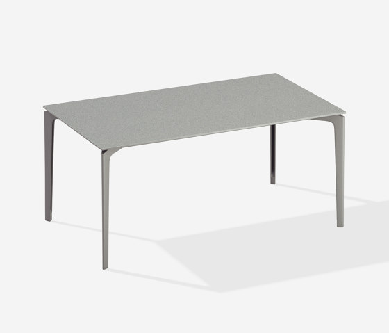 AllSize rectangular table with speckled aluminium top by Fast | Dining tables