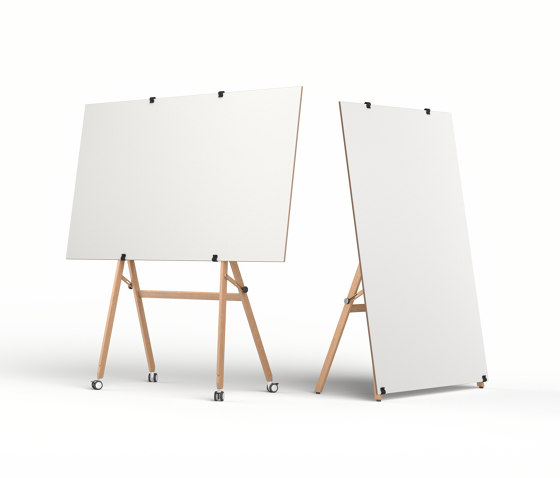 Easel on gliders by Studiotools | Flip charts / Writing boards