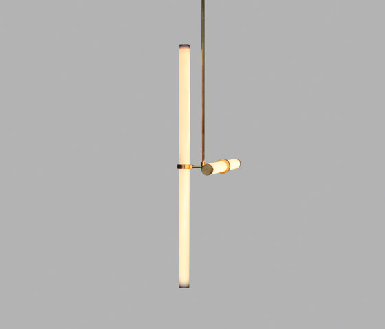 Light Object 019 - LED light, ceiling, natural brass finish by Naama Hofman Light Objects | Suspended lights
