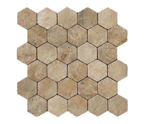 Aix Beige Honeycomb Tumbled by Atlas Concorde | Ceramic mosaics