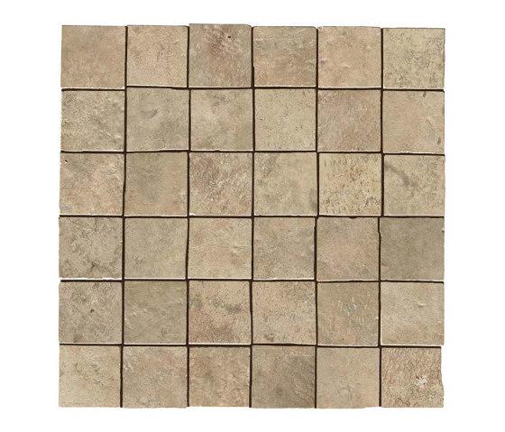 Aix Beige Mosaico Tumbled by Atlas Concorde | Ceramic mosaics