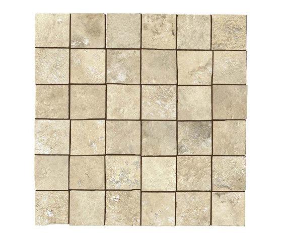 Aix Blanc Mosaico Tumbled by Atlas Concorde   Ceramic mosaics