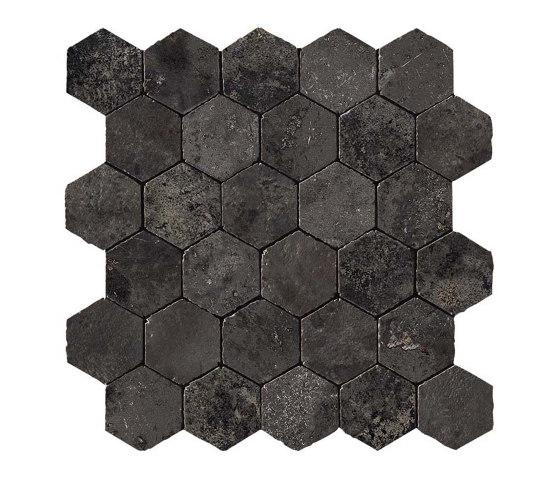 Aix Fumée Honeycomb Tumbled by Atlas Concorde | Ceramic mosaics