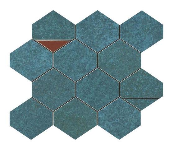BLAZE Verdigris Mosaico Nest by Atlas Concorde | Ceramic tiles