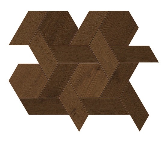 HEARTWOOD Moka Mansion Weave 34,6x40 de Atlas Concorde | Carrelage céramique