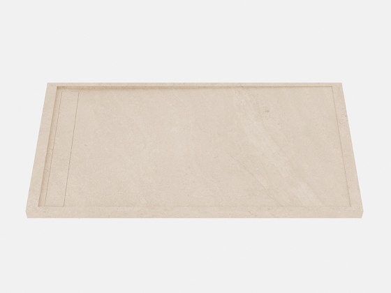 HYDRA Petra Crema Bush-hammered by INALCO | Shower trays