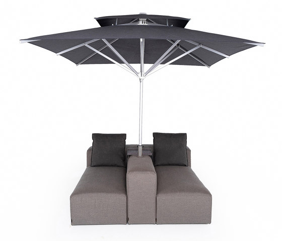 Lounge Outdoor System   2-in-1 Lounge with parasol by IKONO   Parasols