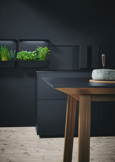 next125 cooking table onyx black fine matt AFP by next125 | Island kitchens