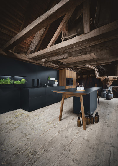 next125 cooking table onyx black fine matt AFP by next125 | Island kitchens