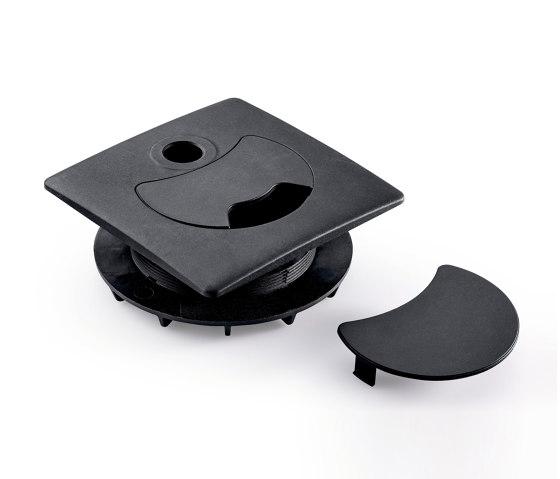 Attenzia accessoires   Attenzia passe-câble en plastique de Novus   Accessoires de table