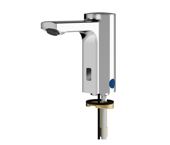 F5E Electronic pillar tap for separate power supply by Franke Water Systems | Wash basin taps