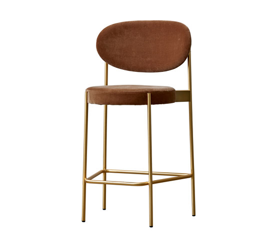 Series 430 | Bar Stool 65 Brass Finish de Verpan | Sillas de trabajo altas