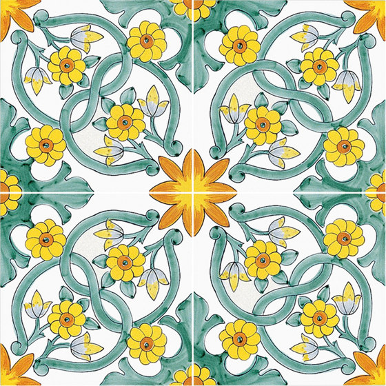 Antichi Decori Ogliastro by Ceramica Francesco De Maio | Ceramic tiles