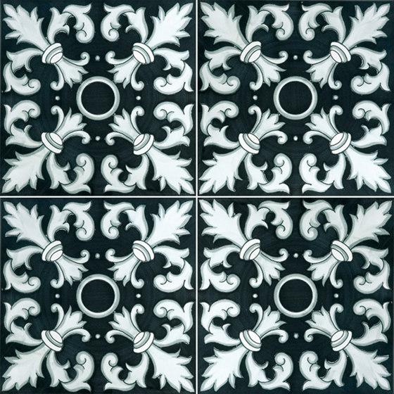 Fiori Scuri Crapolla Nero by Ceramica Francesco De Maio   Ceramic tiles